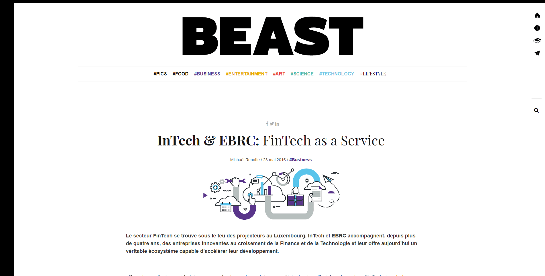 InTech & EBRC: FinTech as a Service
